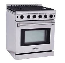 "Thor Kitchen  30"" Gas Range Oven 5 Burner range stove Stainless Steel  LRG3001U"