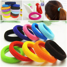 50 Pcs Kids Girl Lady Elastic Rubber Hair Bands Ponytail Holder Head Rope Ties N