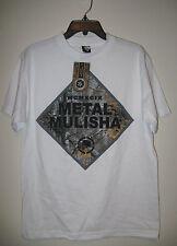 Metal Mulisha Mens Short Sleeve T shirt NWT Medium White 100% Cotton
