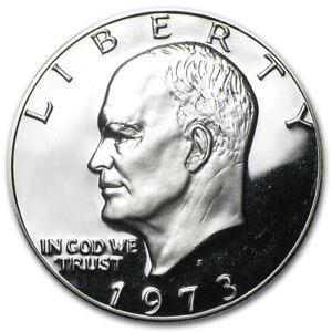 1973 -S Eisenhower Dollar Proof 40% Silver Gem Coin