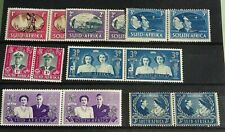SOUTH AFRICA STAMPS 7 PAIRS -GEO  VI--VFM/LIGHTHINGE MARKS  COLLECTION BREAK-UP.