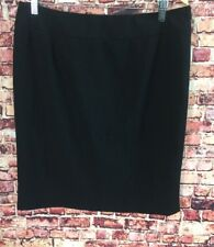 Kenneth Cole Reaction Black Pencil Skirt Size 10