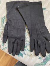 Vintage Women's Black Cloth Gloves