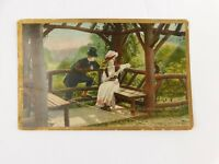 Antique 1909 Postcard Man Courting Woman Theochrom series 1122