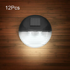 12 Pcs LED Solar Power Garden Fence Wall Lights Outdoor Patio Path Decking Lamp
