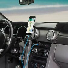 Magnetic Cell Phone Holder USB Charger Universal Car Mount 12v Cigarette Lighter