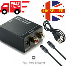 3.5mm Digital to Analogue Audio Converter Optical Coaxial Toslink RCA LR Adapter