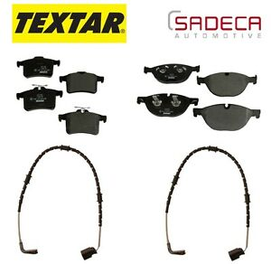 For Jaguar XFR 2010-2014 Rear & Front Disc Brake Pads & Sensors Set KIT Textar