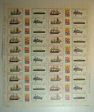 1977  ITALIA 170 lire  Costruzioni Navali Italiane  foglio  intero MNH**