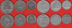 French Polynesia set of 6 coins: 1 - 50 francs 1967-2018