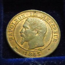 France 2 centimes 1853 MA SUP/VZ/EF Bronze (2g)