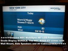 "NEC M46B-AV 46"" Multisync Professional Grade LCD Widescreen Display BUNDLE(USED)"