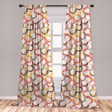 Ambesonne 2 Panel Microfiber Curtain Window Drape Wrinkle-Free Printed Fabric