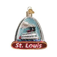 Old World Christmas ST. LOUIS ARCH (20073)N Glass Ornament w/ OWC Box