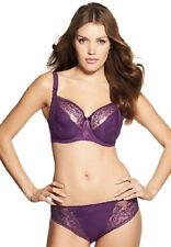Fantasie FLORENCE Amethyst Purple Nylon 2412 Balcony UW Bra 36F & 2417 Thong L