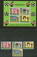TANZANIA 1982 WORLD CUP SET ALL FOUR COMMEMORATIVES & THE MINIATURE SHEET MNH