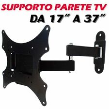 SUPPORTO TV BRACCIO 17 19 22 24 25 27 29 32 37 POLLICI LCD LED 3D PLASMA STAFFA