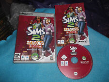 THE SIMS 2 SEASONS EXPANSION APPLE MAC/DVD V.G.C. FAST POST COMPLETE
