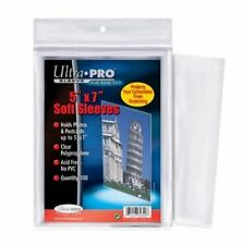"100 Protèges/Pochettes Ultra Pro 5""X7"" Soft Sleeves (Holds Photos & Postcards)"
