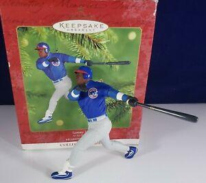 2001 Sammy Sosa MLB Chicago Cubs Baseball Hallmark Holiday Christmas Ornament