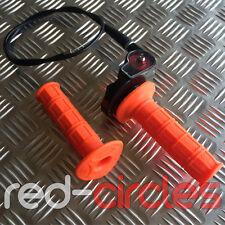 ORANGE PIT DIRT BIKE QUICK ACTION THROTTLE GRIP TWIST CABLE 50cc - 110cc PITBIKE