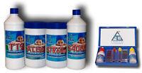 kit 5 pz manutenzione piscina piscine antialghe cloro correttore PH riduttore