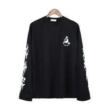 Chinese Letter Printed Tshirt Long Sleeve Round Neck Autumn Girls Loose Tops New