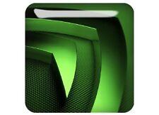 "nVidia 3D (Design 2) 1""x1"" Chrome Domed Case Badge / Sticker Logo"