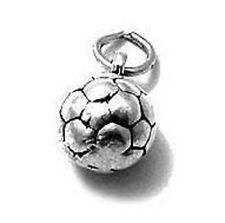 925 Sterling Silver 3D Soccer Ball Charm