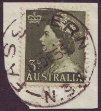 "NSW POSTMARK ""FASSIFERN"" ON 3-1/2d QEII DATED 1955 (A1720)"