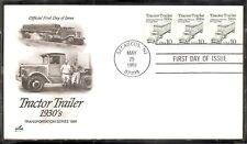 US SC # 2457 Tractor Trailer FDC. Artcraft cachet