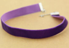 Cosplay 90's purple Velvet Choker Necklace Goth Gothic Handmade Retro