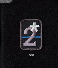 Mil Spec Monkey MSM 2 Assterisk Morale Patch-SWAT/Thin Blue Line