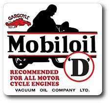 SUPER HIGH GLOSS OUTDOOR 4 INCH MOBIL MOBILE GAS MOTORCYCLE DECAL STICKER