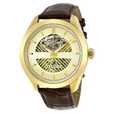 Brooklyn Pierrepont Skeleton Mens Automatic Gold Tone Mens Watch-AU