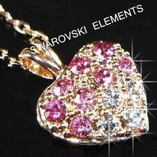 Collares y colgantes de bisutería cristal oro rosa