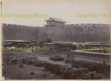 OLD CHINESE ALBUMEN PHOTO CITY WALLS NANKING / NANJING ? CHINA VINTAGE C.1900