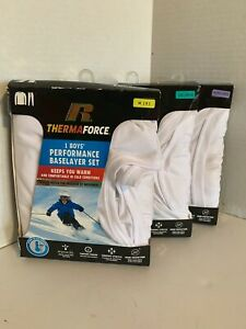 Russell Therma Force Size Large White Performance Baselayer Thermal Set NEW