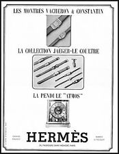 PUBBLICITA' 1939 HERMES OROLOGI VACHERON & COSTANTIN ATMOS WATCHES JAEGER LE COU