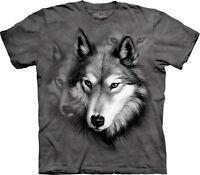 Wolf Portrait Animal T Shirt Child Unisex The Mountain