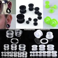 "Pair 12g-5/8"" Acrylic Screw Ear Plugs Ear Gauge Flesh Tunnels Expander Piercing"