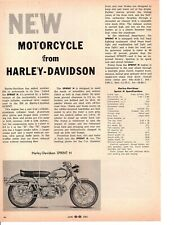 1962 HARLEY-DAVIDSON SPRINT  ~  ORIGINAL  ARTICLE / AD