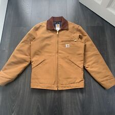 CARHARTT Duck Detroit Jacket in Brown, size SMALL
