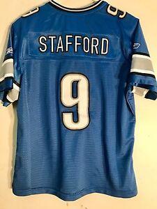Reebok Women's Premier NFL Jersey Detroit Lions Matthew Stafford Blue sz L