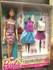 Barbie® Brunette Doll in Floral Purple Dress with Accessories [GIFT SET]  *CML92