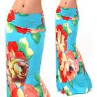 Sexy Women's Floral Print Bohemian High Waist Fold Over Maxi Long Skirt S M L XL