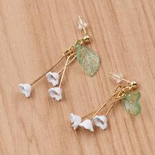 Lovely Floral Leaf Drop Earrings Ear Stud Drop Dangle Women Fashion Jewelry