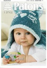 VAT Free Hand Knitting PATTERN ONLY Patons Baby Cute Cat Hood Blanket New 3959