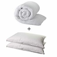 DOUBLE DUVET QUILT AND 2 PILLOWS - DOUBLE 4.5 TOG QUALITY QUILT AND 2 PILLOWS