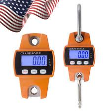 Mini Crane Scale 300KG/660LBS Industrial Hook Hang Weight Digital LCD Display US